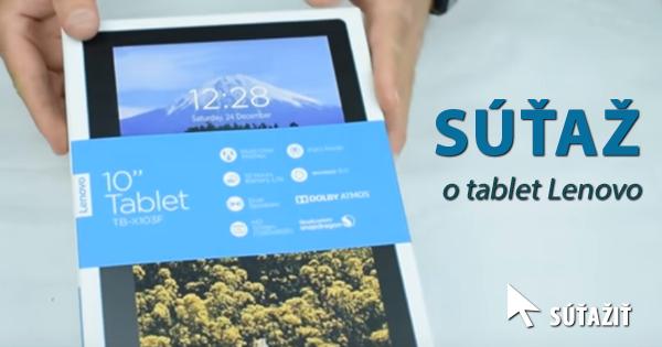 Súťaž o Full HD tablet Lenovo TAB3